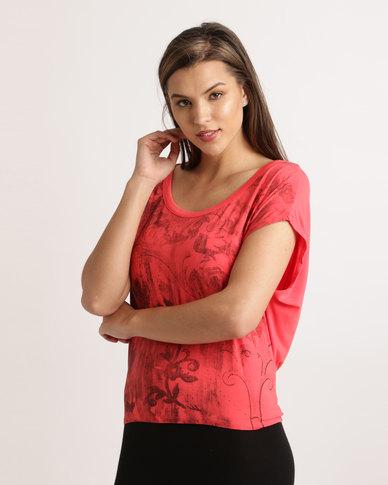 Hip Shop Starry Nights Top Watermelon Red