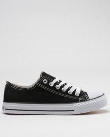 Utopia Canvas Vulcanized Sneakers Black