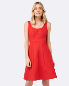 Forever New Ella Panelled Prom Dress Coral