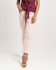 Ronald Sassoon Mid Rise Cropped Flare Pants Overdye Pink