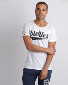 Stellies Lightning Scoop Logo Tee White