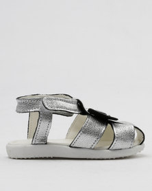 Shooshoos We Are All Stars Slip On Sandals Silver