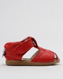 Shooshoos Nascar Slip On Sandals Red