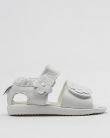 Shooshoos It Is What It Is Slip On Sandals White