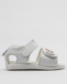 Shooshoos Virginia Moon Slip On Sandals White