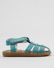 Shooshoos Jersey Lake Slip On Sandals Teal