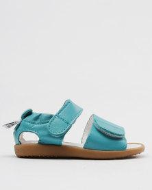 Shooshoos Ocean Drive Slip On Sandals Teal