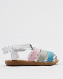 Shooshoos Ribbons & Bows Slip On Sandals Multi