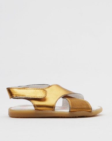 Shooshoos Age Of Bronze Slip On Sandals Bronze