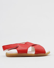 Shooshoos Ruby Slippers Slip On Sandals Red