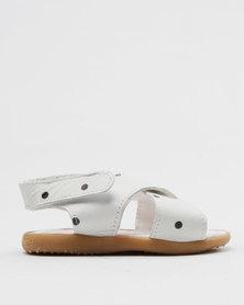 Shooshoos Pop Rocks Slip On Sandals White