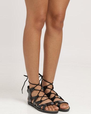 Candy Flat Flat Sandal Sandal Candy Black 8nOkNw0PX
