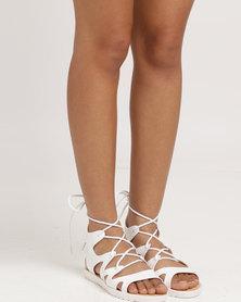 Candy Flat Sandal White