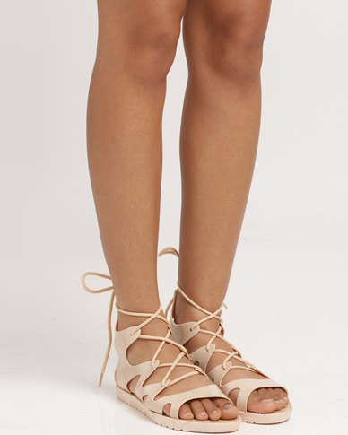 Candy Flat Sandal Nude