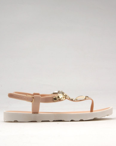 fda70b531383 Candy Sling Back Toe Thong Sandal Nude