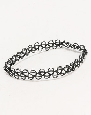 ALDO Broan Choker Necklaces Black/Gold-tone