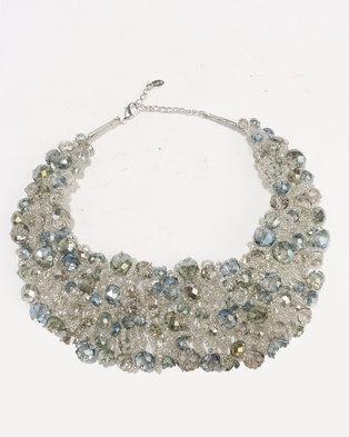 ALDO Lanice Necklace Blue/Silver-tone