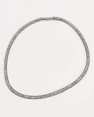 ALDO Seveima Delicate Mesh Choker Necklace Silver-tone
