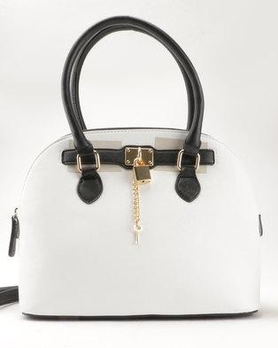 ALDO Frata Handbag Black/White
