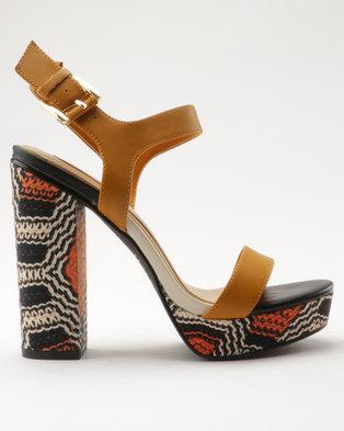 Aldo Joann High Heeled Sandals Camel