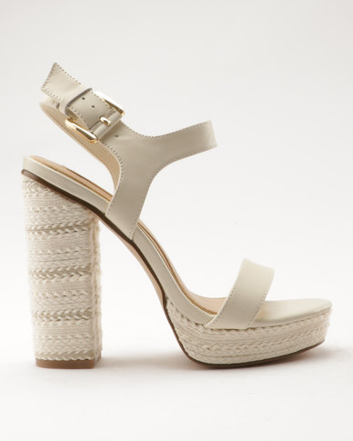 Aldo Joann High Heeled Sandals White