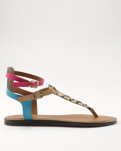Flat Sandals Brown Montecucco Aldo Ladies AL435Rjq