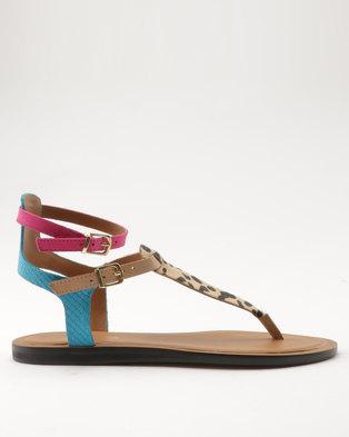 ALDO Montecucco Ladies Flat Sandals Brown