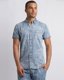 Deacon Mosta Short Sleeve Shirt Light Blue