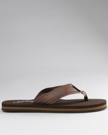 Jeep Chilli Toe Thong Sandals Tan