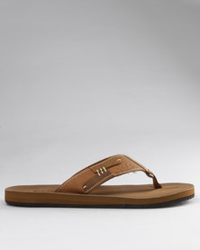 Jeep Nepal Toe Thong Sandals Tan