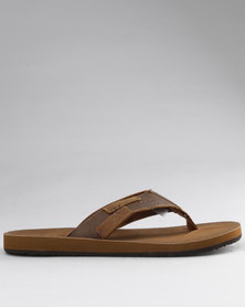 Jeep Nepal Toe Thong Sandals Brown
