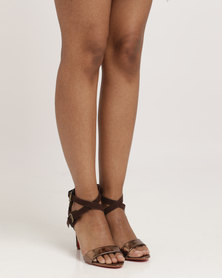 Bronx Shinice Heeled Sandals Choc/Bronze
