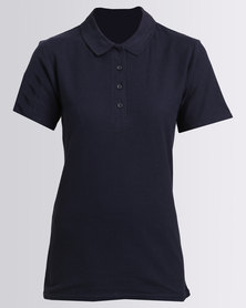 GILDAN LDS SOFTSTYLE POLO - NAVY