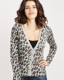 Utopia Animal Print Cardigan Multi
