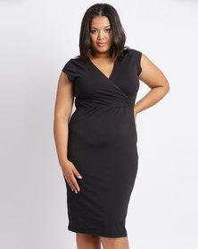 Me Melanie Wrap Dress Black