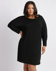 Me Glam Knit Dress Black