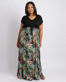 Me Monet  Floral Maxi Dress Multi
