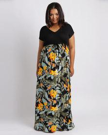 Me Bali Print Floral Maxi Dress Multi