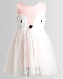 Bugsy Boo Fox Tulle Dress Pink