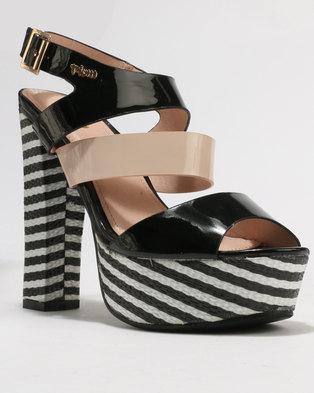 9d13bee9864 PLUM Pippa Block Heel Platform Sandals .