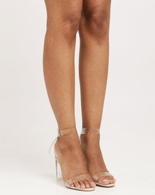 Plum Creole High Heel Sandals Clear