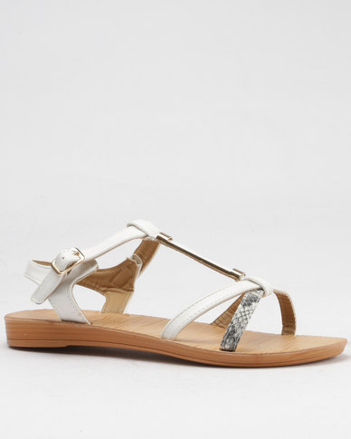 Beauty Girl Beauty Girl Strappy Flat Sandals Brown countdown package sale online outlet store online hot sale cheap sale sast 1XwmC