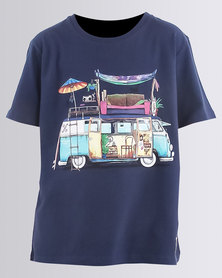 Holmes Brothers Boys Delux Combi T-Shirt Indigo