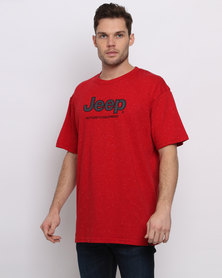 Jeep Applique/Embroidery T-Shirt Red