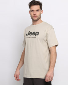 Jeep Applique Embroidery T-Shirt Stone