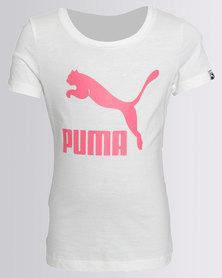 Puma Classic Logo Tee White