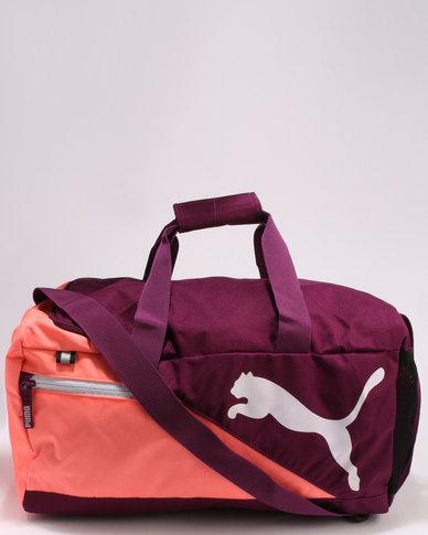 Puma Performance Fundamentals Sports Bag Dark Purple  45195a81ff81d