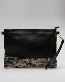 Utopia Two Tone Clutch Black