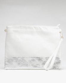 Utopia Two Tone Clutch White