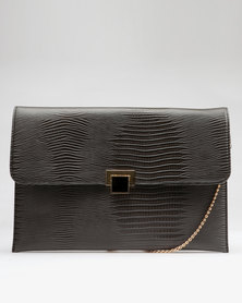 Utopia Croco Clutch Grey